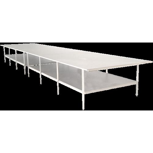 Раскройный стол длина 6000мм (комплект с нижней полкой )