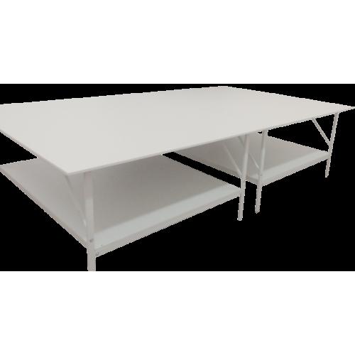 Раскройный стол длина 4000x2000мм (комплект с нижней полкой )