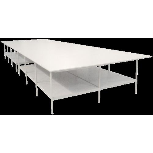 Раскройный стол длина 4000x3000мм (комплект с нижней полкой )