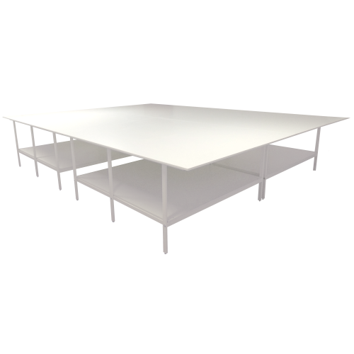 Раскройный стол длина 5000х4000мм (комплект с нижней полкой )