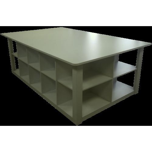Стол для ателье и торговых залов ТС-2 основной 2500х1600х900мм (цвет белый)