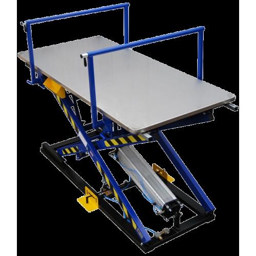 REXEL ST-3/BR Пневматический монтажный стол для обивки мягкой мебели со стальной столешницей и рукавами